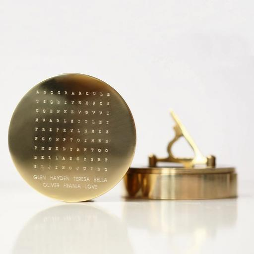 Word Search Nautical Brass Sundial Compass