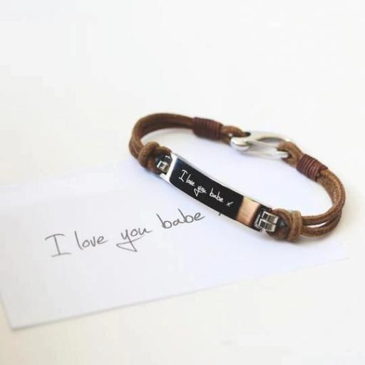 Men's Leather Tan Bracelet