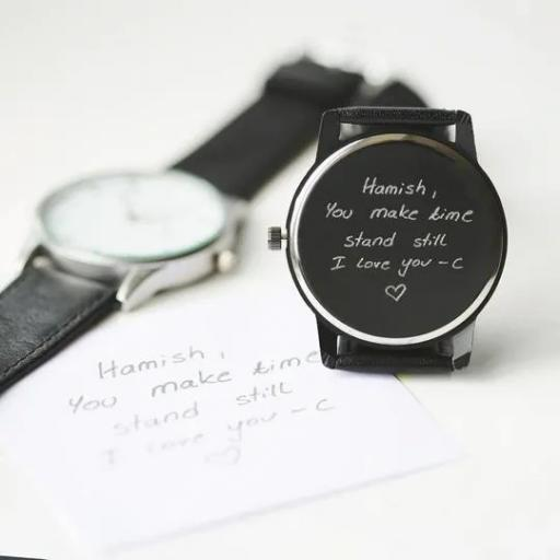 Own Handwriting Engraved Men's Watch
