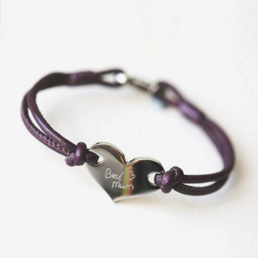 Handwriting Hearts Forever Bracelet
