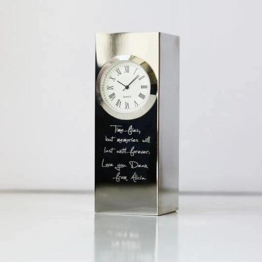 Vintage Personalised Standing Clock