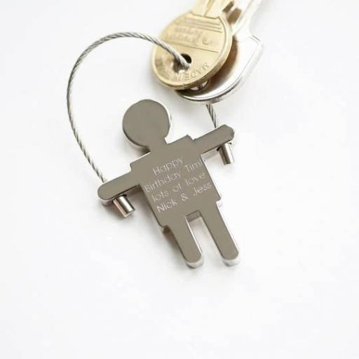 Personalised Key Ring - Skipping Sam