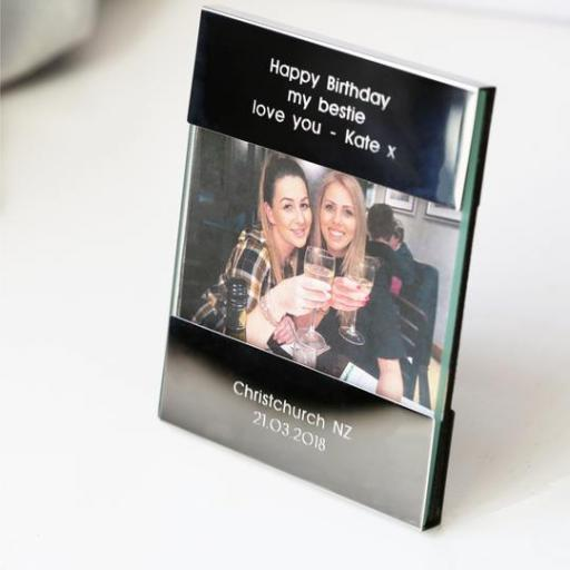 Personalised Polished Steel Photo Frame