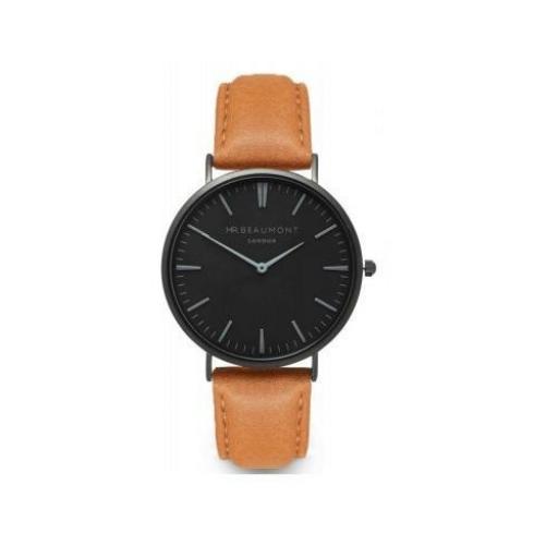 Personalised Men's Minimalist Watch In Camel